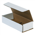 "7 1/2"" x 3 1/4"" x 1 3/4"" White Corrugated Mailers 50/Bundle"