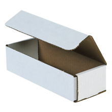 "8"" x 3"" x 2"" White Corrugated Mailers 50/Bundle"