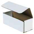 "8"" x 3"" x 3"" White Corrugated Mailers 50/Bundle"