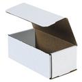 "8"" x 4"" x 3"" White Corrugated Mailers 50/Bundle"
