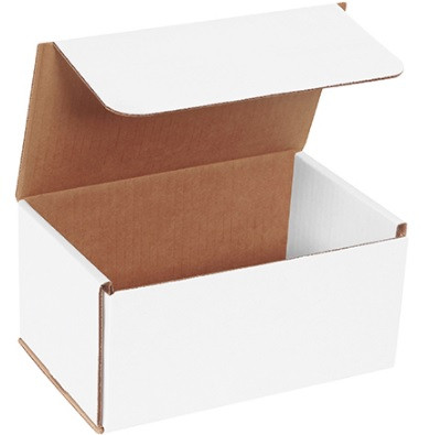 """200#//ECT-32 8/"""" x 3/"""" x 2/"""" Corrugated Mailers Lot of 50 White"""