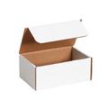 "7 1/8"" x 4 1/2"" x 3"" White Literature Mailers 50/Bundle"