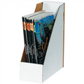 White Corrugated Cardboard Magazine File Boxes