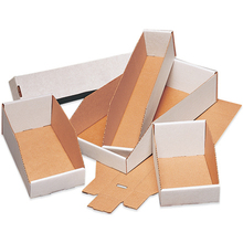 "6"" x 18"" x 4 1/2""  Open Top Bin Boxes - Fits 18"" Shelf"