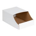 "8"" x 12"" x 4 1/2""  Stackable Bin Boxes - Fits 12"" Shelf"