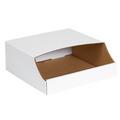 "12"" x 12"" x 4 1/2""  Stackable Bin Boxes - Fits 12"" Shelf"