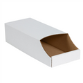 "8"" x 18"" x 4 1/2""  Stackable Bin Boxes - Fits 18"" Shelf"