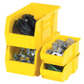 "5 3/8"" x 4 1/8"" x 3"" Yellow Plastic Stack & Hang Bin Boxes - Fits 5 3/8"" Shelf"