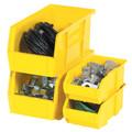 "10 7/8"" x 4 1/8"" x 4"" Yellow Plastic Stack & Hang Bin Boxes - Fits 10 7/8"" Shelf"