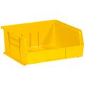 "10 7/8"" x 11"" x 5"" Yellow  Plastic Stack & Hang Bin Boxes - Fits 10 7/8"" Shelf"