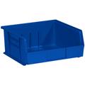"10 7/8"" x 11"" x 5"" Blue  Plastic Stack & Hang Bin Boxes - Fits 10 7/8"" Shelf"