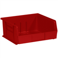 "10 7/8"" x 11"" x 5"" Red  Plastic Stack & Hang Bin Boxes - Fits 10 7/8"" Shelf"