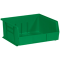 "10 7/8"" x 11"" x 5"" Green  Plastic Stack & Hang Bin Boxes - Fits 10 7/8"" Shelf"