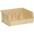 "10 7/8"" x 11"" x 5"" Ivory  Plastic Stack & Hang Bin Boxes - Fits 10 7/8"" Shelf"