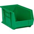 "14 3/4"" x 8 1/4"" x 7"" Green  Plastic Stack & Hang Bin Boxes - Fits 14 3/4"" Shelf"