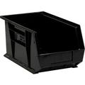 "14 3/4"" x 8 1/4"" x 7"" Black  Plastic Stack & Hang Bin Boxes - Fits 14 3/4"" Shelf"