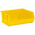 "14 3/4"" x 16 1/2"" x 7"" Yellow  Plastic Stack & Hang Bin Boxes - Fits 14 3/4"" Shelf"
