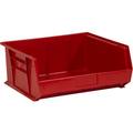 "14 3/4"" x 16 1/2"" x 7"" Red  Plastic Stack & Hang Bin Boxes - Fits 14 3/4"" Shelf"