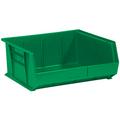 "14 3/4"" x 16 1/2"" x 7"" Green  Plastic Stack & Hang Bin Boxes - Fits 14 3/4"" Shelf"