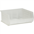 "14 3/4"" x 16 1/2"" x 7"" Clear  Plastic Stack & Hang Bin Boxes - Fits 14 3/4"" Shelf"