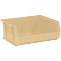 "14 3/4"" x 16 1/2"" x 7"" Ivory  Plastic Stack & Hang Bin Boxes - Fits 14 3/4"" Shelf"
