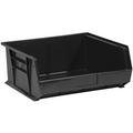 "14 3/4"" x 16 1/2"" x 7"" Black  Plastic Stack & Hang Bin Boxes - Fits 14 3/4"" Shelf"