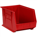 "18"" x 11"" x 10"" Red  Plastic Stack & Hang Bin Boxes - Fits 18"" Shelf"