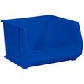 "18"" x 16 1/2"" x 11"" Blue  Plastic Stack & Hang Bin Boxes - Fits 18"" Shelf"
