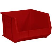 "18"" x 16 1/2"" x 11"" Red  Plastic Stack & Hang Bin Boxes - Fits 18"" Shelf"