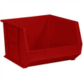 "18"" x 16 1/2"" x 11"" Red  Plastic Stack & Hang Bin Boxes - Fits 18"" Shelf"