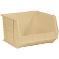 "18"" x 16 1/2"" x 11"" Ivory  Plastic Stack & Hang Bin Boxes - Fits 18"" Shelf"