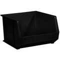 "18"" x 16 1/2"" x 11"" Black  Plastic Stack & Hang Bin Boxes - Fits 18"" Shelf"
