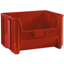"19 7/8"" x 15 1/4"" x 12 7/16"" Red  Giant Stackable Bins"