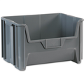 "19 7/8"" x 15 1/4"" x 12 7/16"" Gray  Giant Stackable Bins"