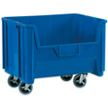"19 7/8"" x 15 1/4"" x 12 7/16"" Blue  Mobile Giant Stackable Bins"