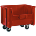 "19 7/8"" x 15 1/4"" x 12 7/16"" Red  Mobile Giant Stackable Bins"