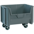 "19 7/8"" x 15 1/4"" x 12 7/16"" Gray  Mobile Giant Stackable Bins"