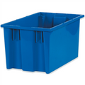 "16"" x 10"" x 8 7/8"" Blue Stack & Nest Containers"