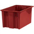 "16"" x 10"" x 8 7/8"" Red Stack & Nest Containers"