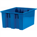 "17"" x 14 1/2"" x 9 7/8"" Blue Stack & Nest Containers"