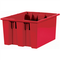 "17"" x 14 1/2"" x 9 7/8"" Red Stack & Nest Containers"