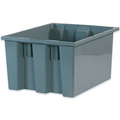 "17"" x 14 1/2"" x 9 7/8"" Gray Stack & Nest Containers"