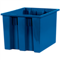 "17"" x 14 1/2"" x 12 7/8"" Blue Stack & Nest Containers"