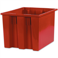 "17"" x 14 1/2"" x 12 7/8"" Red Stack & Nest Containers"