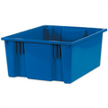 "20 7/8"" x 18 1/4"" x 9 7/8"" Blue Stack & Nest Containers"
