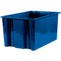 "26 5/8"" x 18 1/4"" x 14 7/8"" Blue Stack & Nest Containers"