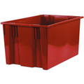 "26 5/8"" x 18 1/4"" x 14 7/8"" Red Stack & Nest Containers"