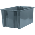 "26 5/8"" x 18 1/4"" x 14 7/8"" Gray Stack & Nest Containers"