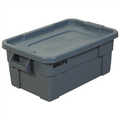 "28"" x 18"" x 11"" Gray Totes with Lid for Storage and Transport"