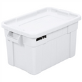 "28"" x 18"" x 15"" White Tote with Lid for Storage and Transport"